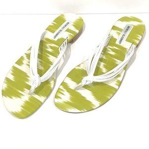 Manolo Blahnik Tarantina Ikat Leather Thong Sandal